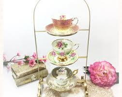 Cup And Saucer Display Stands Tea cup rack Etsy 89