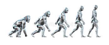 Ape Evolution Chart The Evolution Of Technology Stock Illustration