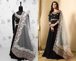 Salwar Kameez Designs Catalogue Free Download Designer Lt 1707 Party Wear Salwar Suit Dark Blue Anarkali