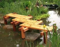 simple zigzag diy garden bridge without