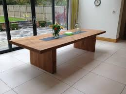 Oak And Slate Dining Table