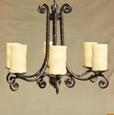 tuscan gothic meval chandelier hand forged wrought iron