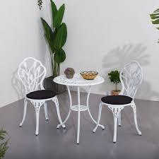 garden patio furniture white 3 piece