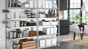 OMAR shelving unit 197x36x181 cm with 12 shelves & 4 baskets.