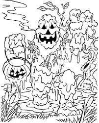 Small Picture Halloween Coloring Pages Spooky Coloring Pages