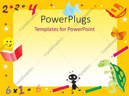 Kids Powerpoint Background Powerpoint Template Yellow Abstract Frame For Kids With