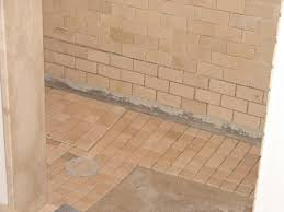 finish setting the shower floor with thinset mortar the shower floors are tiled with 2