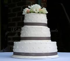 simple round wedding cake.  Cake Weddingcakesimplegrayribbonround On Simple Round Wedding Cake