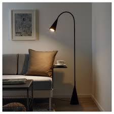 Delaktig Staande Led Lamp Zwart