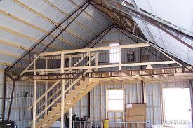 steel building kit with loft