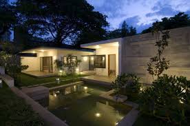 modern house lighting. Image Of: Small Modern House Plans Night Lighting C
