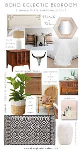 Eclectic Design Source Boho Eclectic Bedroom Source List Makeover Plans Home