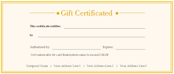 Download Gift Certificate Template Free Downloadable Gift Certificate Templates With Free Customizable