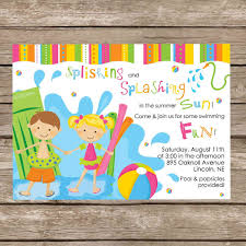 Free Printable Invitation Templates Pool Party Download