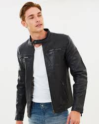 classic real hero biker jacket by superdry the iconic australia