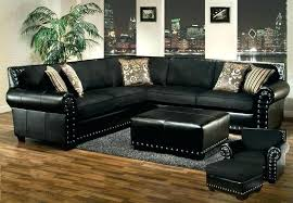 big lots black leather sectional couch