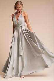metallic silver gold bridesmaid dresses bhldn