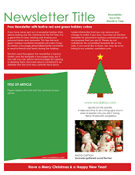 newsletter template for pages holiday newsletter template in word and pdf formats