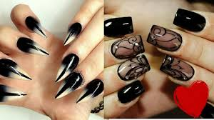 Black Nail Designs 2018 Black Nail Art Design Collection Compilation 2018