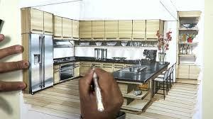 interior design sketches kitchen. Kitchen Sketch With Markers Interior Design Sketches 1