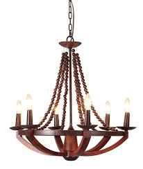unique wood windsor sixlight wood and metal chandelier on and
