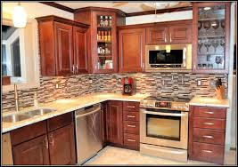 kitchen backsplash cherry cabinets. Contemporary Cabinets Lovely Kitchen Backsplash Cherry Cabinets Black Cou On Most Preeminent  Ideas With Throughout R