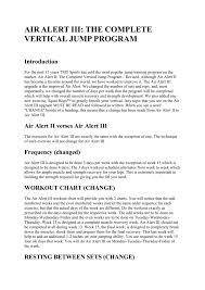 Air Alert Iii The Complete Vertical Jump Program