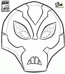 Maschera Di Gelone Personaggio Ben 10 Forza Aliena Da Colorare
