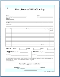 Bill Of Lading Free Form Create An Official Bill Of Lading Free Form Template For