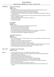 Resume For Servers Pm Server Resume Samples Velvet Jobs
