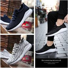 Plus size <b>Men Mesh Breathable Running Shoes</b> Casual Light Sports ...