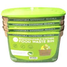 compost bins kitchen counter green lid starter set