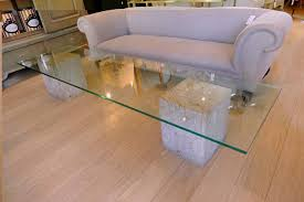 coffee table large glass coffee table rectangle glass coffee table with block wood below wooden