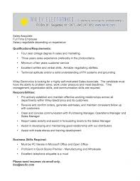 Retail Sales Associate Job Description For Resume Sample With ...