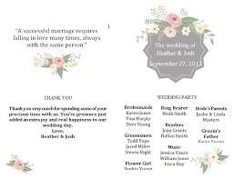 Wedding Programs Template Free Free Wedding Program Templates You Can Customize