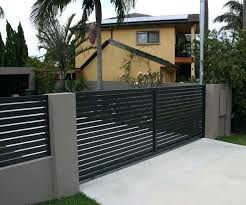 Modern metal fence design Style Metal Stupefying Inexpensive Nerverenewco Modern Metal Fence Ideas Concrete Fence Design Ideas Landscape