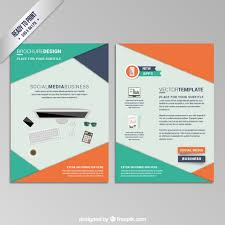 property pamphlet workspace brochure vector free download
