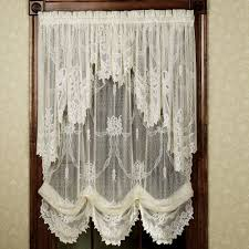 lace kitchen curtains excellent lace curtains garland lace balloon shades band vintage