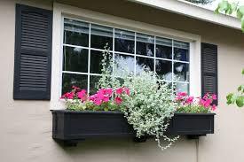Decorative Planter Boxes Black Window Planter Box With Flower Decorative Outdoor Flower 93