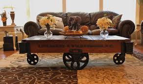 cart daisy wheel coffee industrial table with storage il full full size of