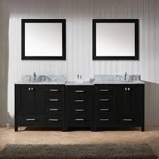 90 Bathroom Vanity Caroline Premium 90 Double Round Sink Top Vanity In Zebra Grey