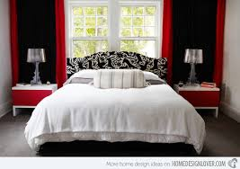 Attractive Bedroom Ideas Red And Black