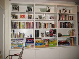 built in bookcase wall