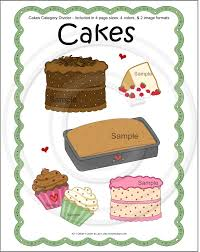 cakes cookbook divider page