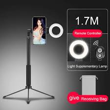 Ring Light Tripod For Iphone Us 21 58 170cm Bluetooth Selfie Stick Tripod With Ring Light Selfie Beauty Portrait Fill Lighting For Iphone Smartphone Youtube Video In Selfie