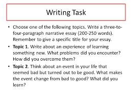 unit narrative essay ppt video online  writing task