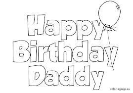 Happy Birthday Coloring Page Cute Happy Birthday Color Pages Color