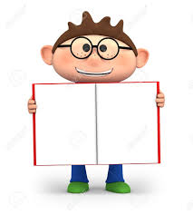 cute little cartoon boy holding an open book high quality 3d ilration stock ilration