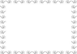 夏の花の飾り枠19 ユリ 花の無料イラスト素材 イラストポップ