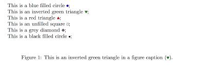 Adding Shape And Symbol To Figure Captions In Latex Callum